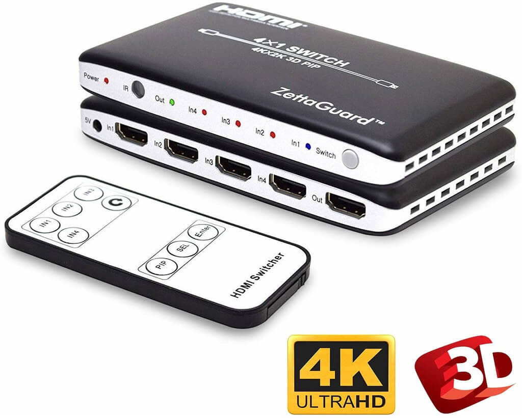 Zettaguard 4K 4 x 1: The Best HDMI Switch Overall