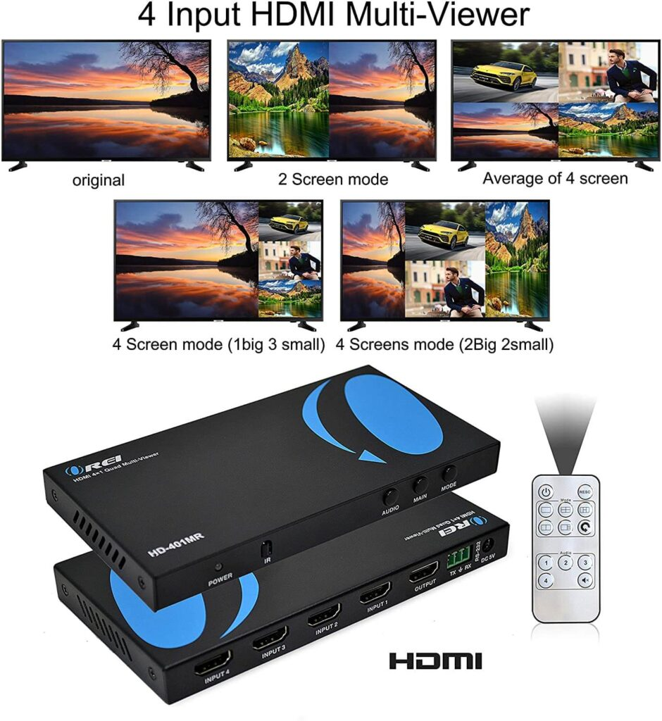 Orei HDMI Multi-Viewer 4x1