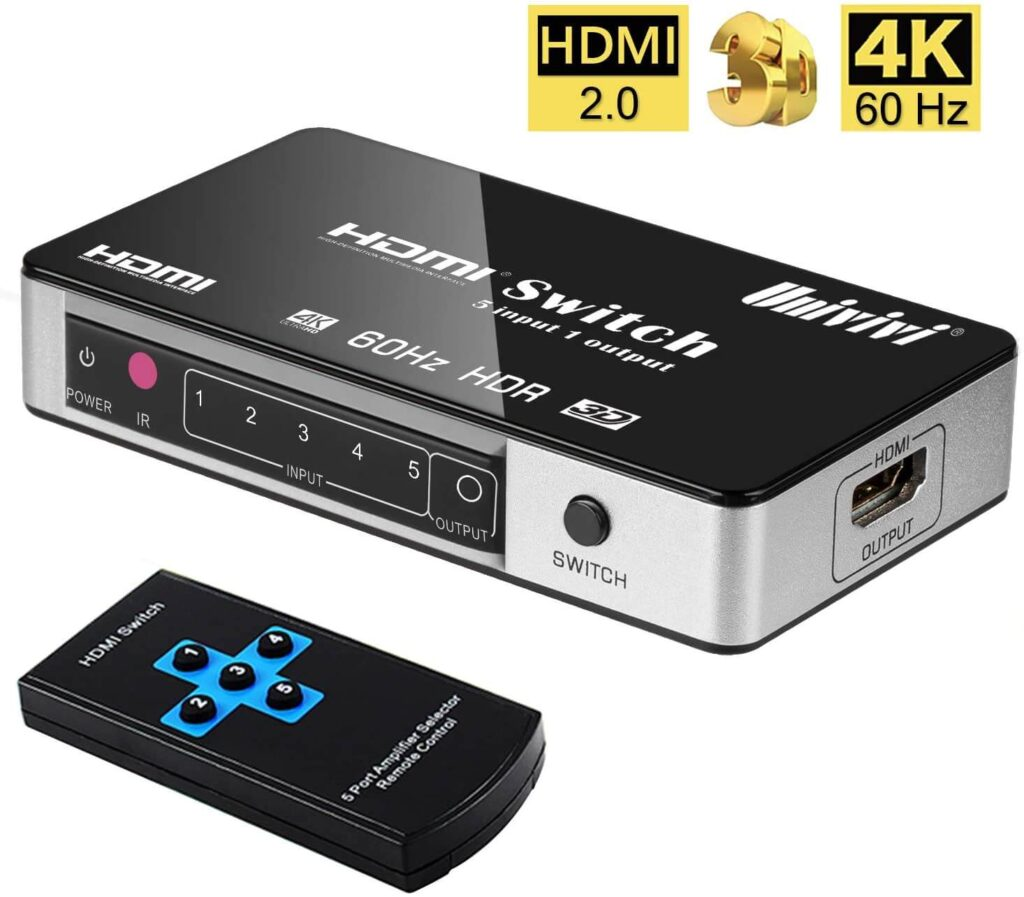 Univivi 5-Port HDMI Switch