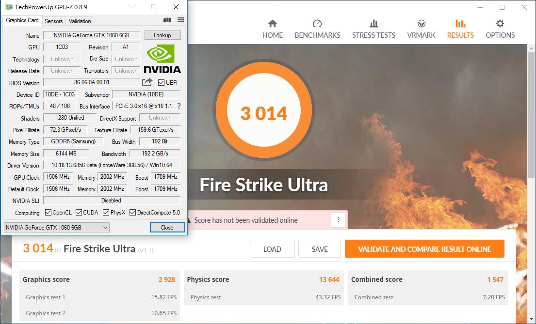 NVIDIA GeForce GTX 1060 3DMark Firestrike Ultra _ 01