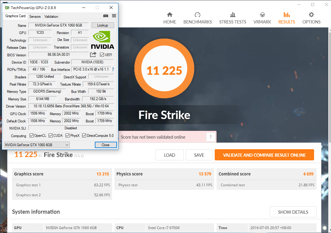 NVIDIA GeForce GTX 1060 3DMark Firestrike Ultra _ 02
