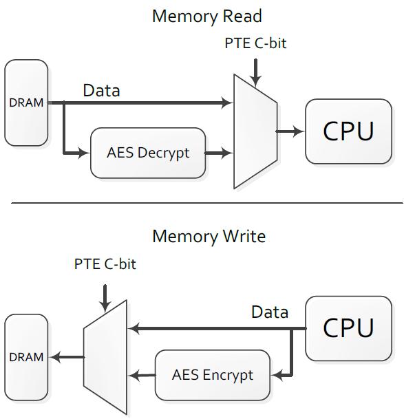 Memory Encryption Behavior