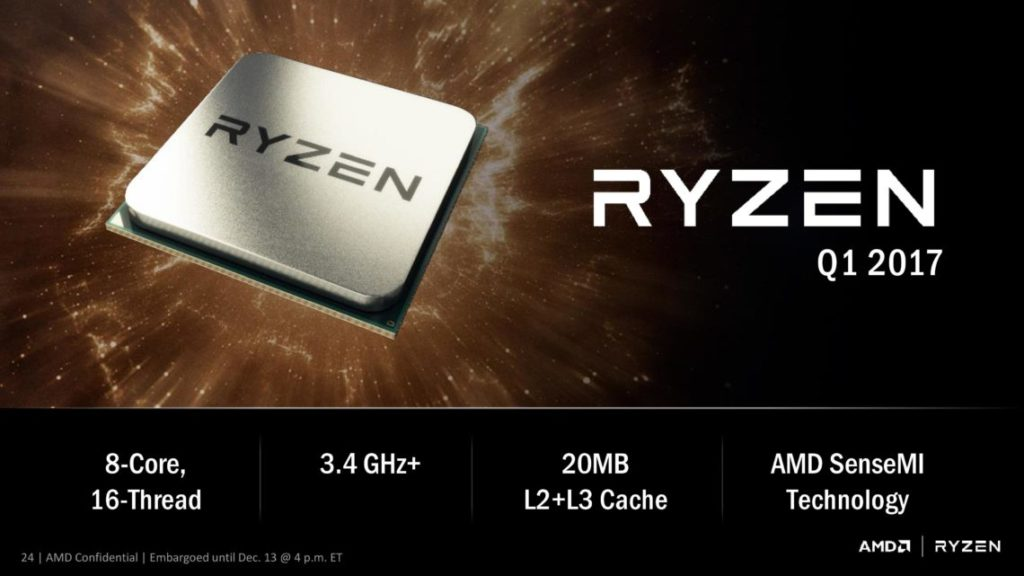 AMD Ryzen CPU lineup - No 6-core CPUs