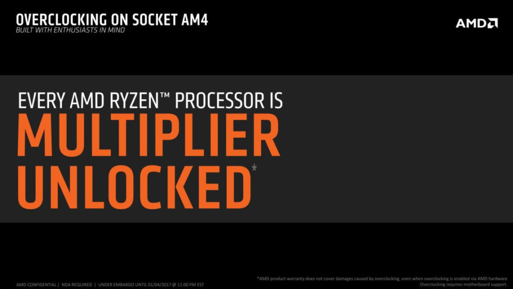 AMD Ryzen overclocking