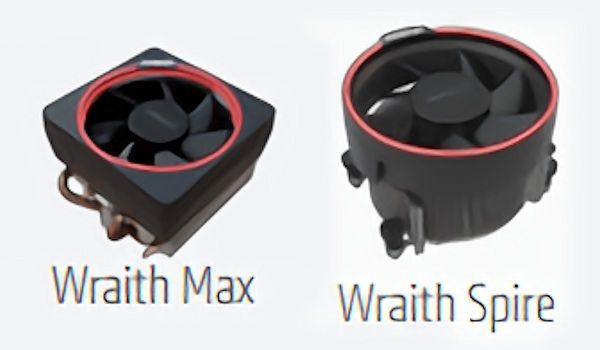 Ryzen 7 Wraith Max and Wraith Spire Close-up