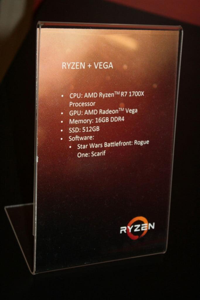AMD Radeon Vega graphics card Pictured