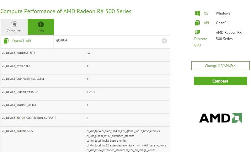 AMD Polaris 12 OpenCL leak