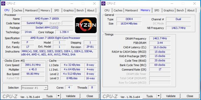 4-core Ryzen 5 CPU-Z