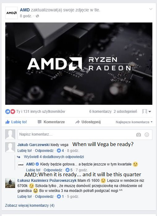 AMD Radeon RX Vega Launch window