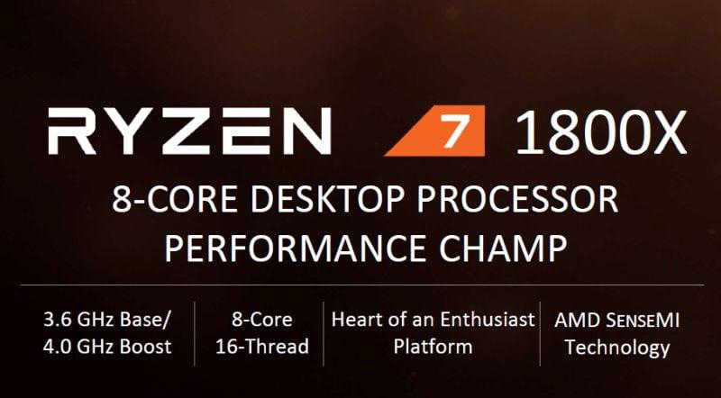 Ryzen 7 1800X price cut
