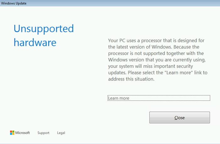 Windows 7, 8.1 updates blocked on Kaby Lake and Ryzen