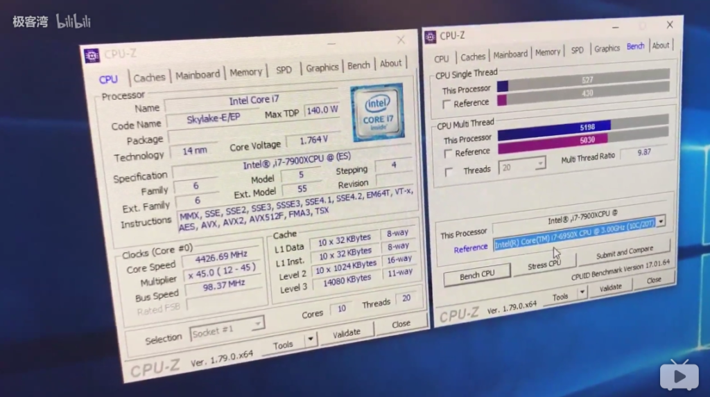 Core i9-7900X Skylake-X Benchmarks vs Core i7-6950X