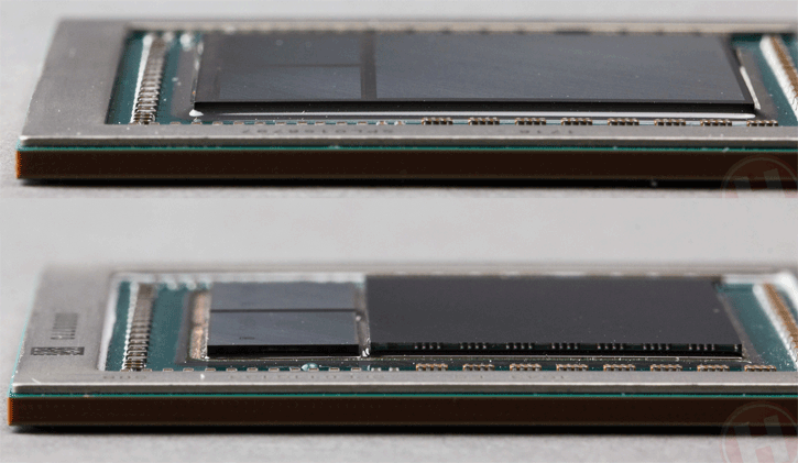 Vega 10 GPU with and without dark substrate