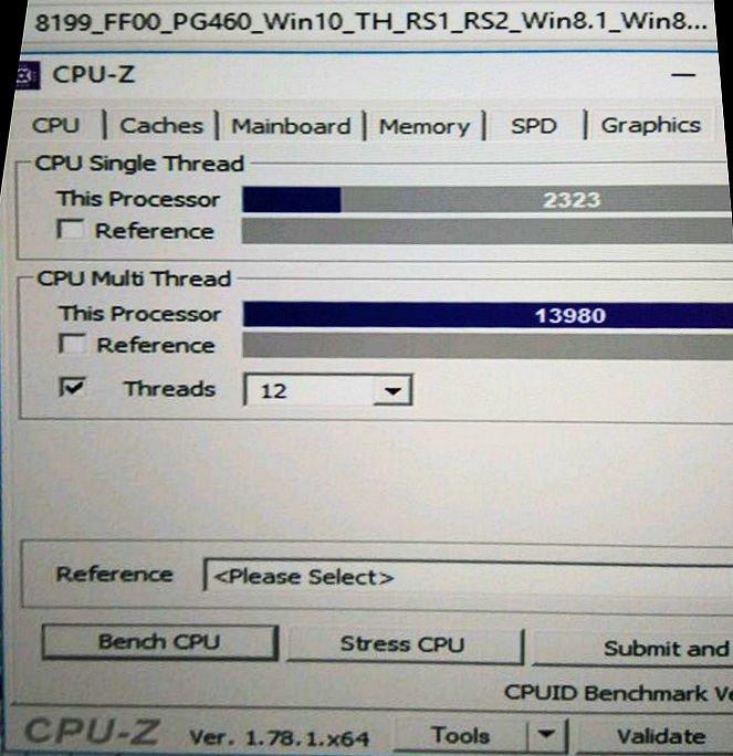 Intel Coffee Lake Core i7-8700K CPU-Z benchmark (2)