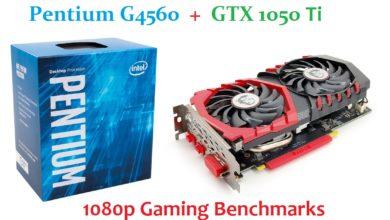 Pentium G4560 + GTX 1050 Ti Gaming 1080P
