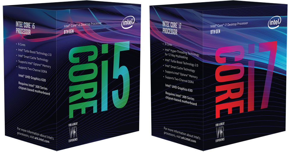 Intel 8th Gen retail packaging - Coffee Lake desktop features