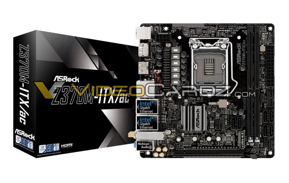 ASRock Z370 Motherboards - M-ITX/ac