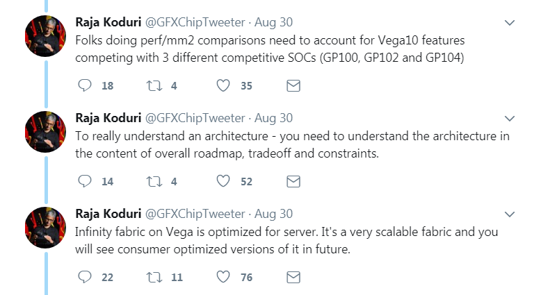 Raja Koduri: RX Vega optimized for server, consumer versions on the way