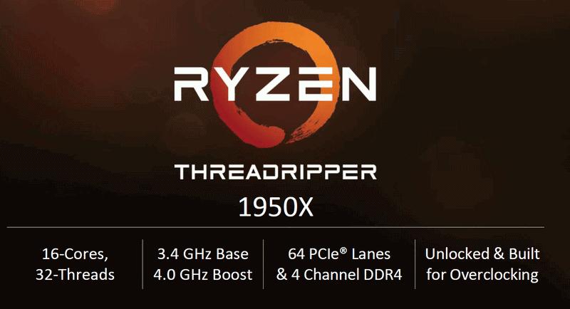 AMD Ryzen Threadripper 1950X specifications