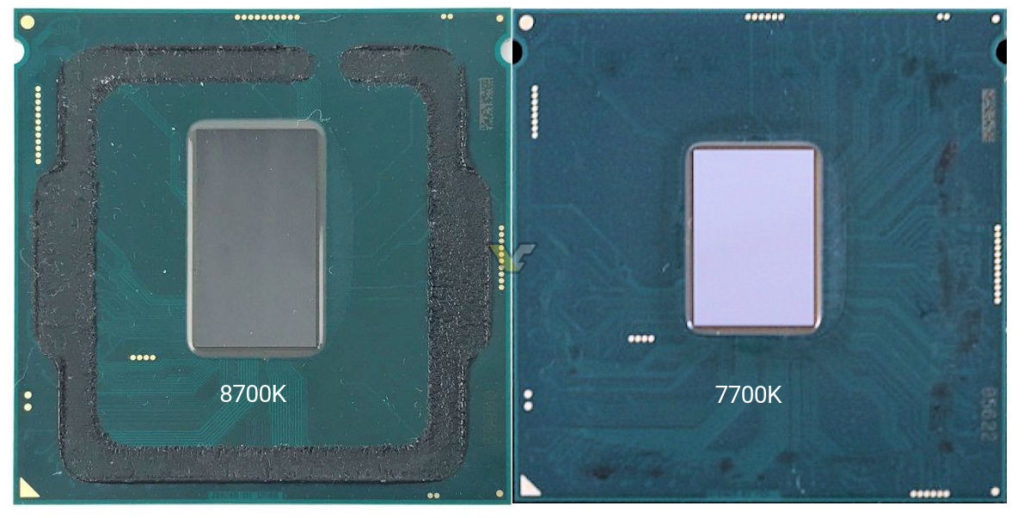 Delidded Core i7-8700K vs 7700K