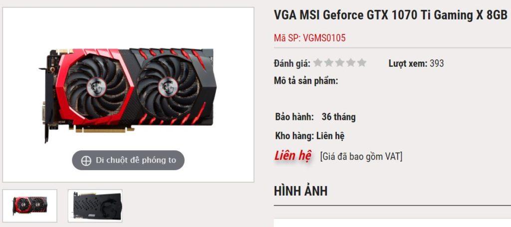 MSI Geforce GTX-1070 Ti Gaming