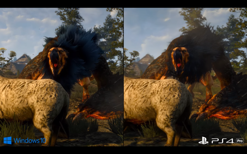 The Witcher 3 PS4 Pro vs PC 4K (3)
