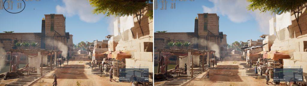 AC Origins 1.05 vs Launch version_screen1