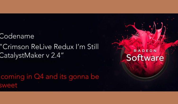 AMD Crimson Relive Redux driver update