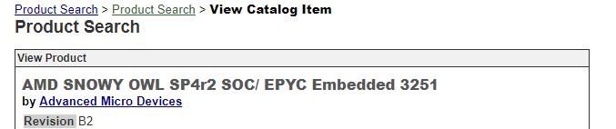 AMD EPYC 3000 Snowy Owl SoC