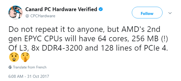 AMD Epyc 2 specs - CPCHardware