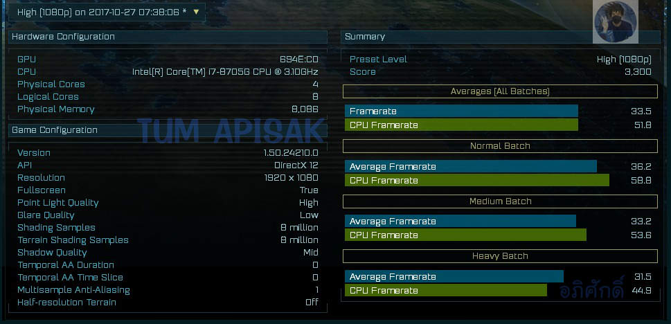 Intel Kably Lake G + AMD Radeon - AotS benchmark