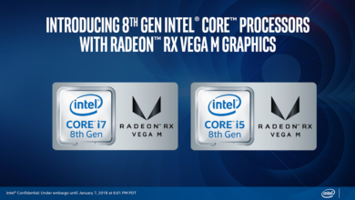 Photo of Intel launches 5 new 8th Gen G-series chips with AMD RX Vega M Graphics