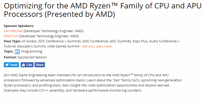 More AMD Ryzen Gen 2 Details coming at GDC in March