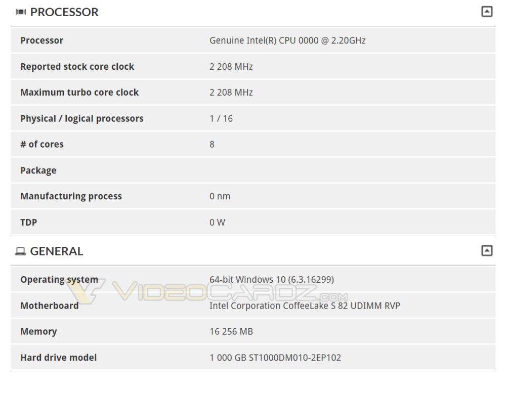 8-Core Intel CPU spotted in 3DMark