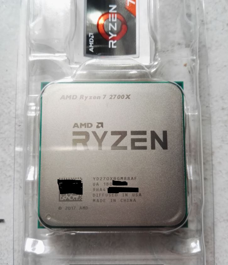 AMD Ryzen 7 2700X pictured