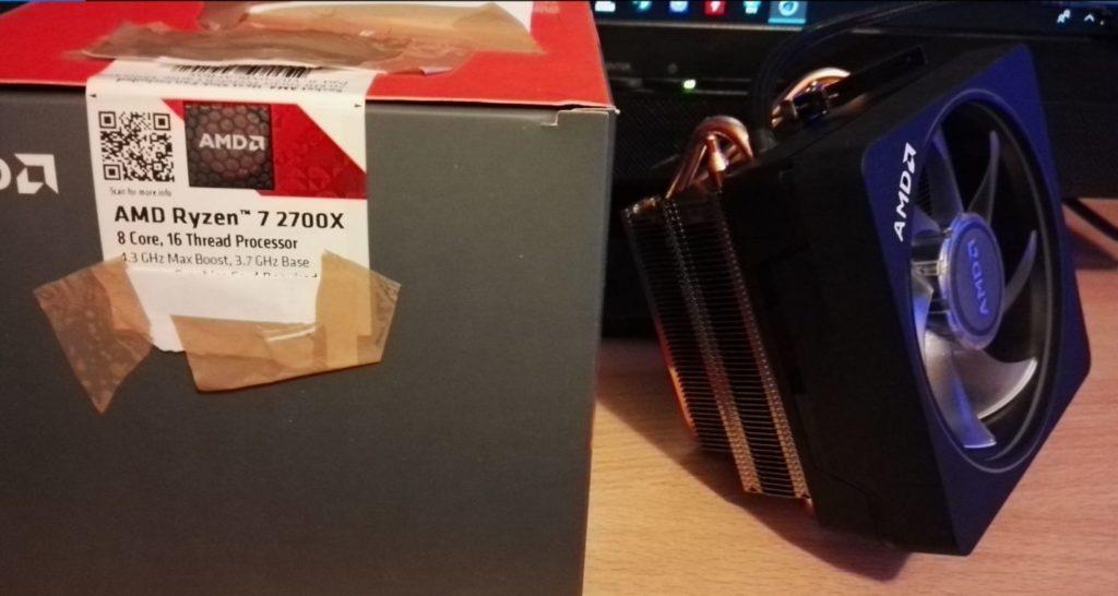 AMD Ryzen 7 2700X packaging
