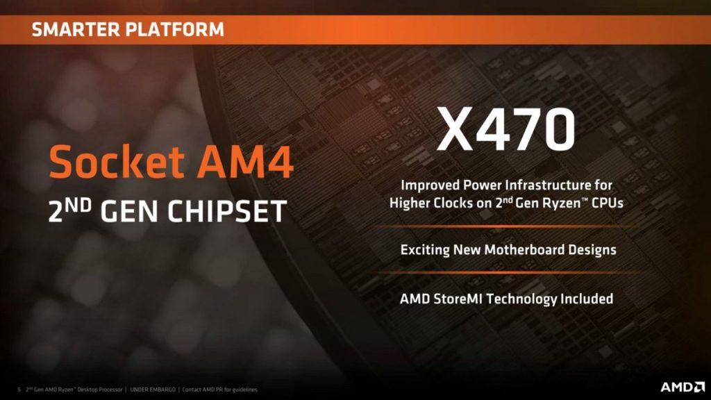 AMD 2nd-Gen X470 Chipset