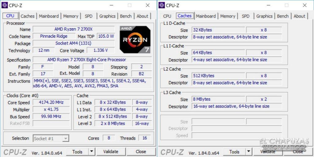 AMD Ryzen 7 2700X X470 CPU-Z