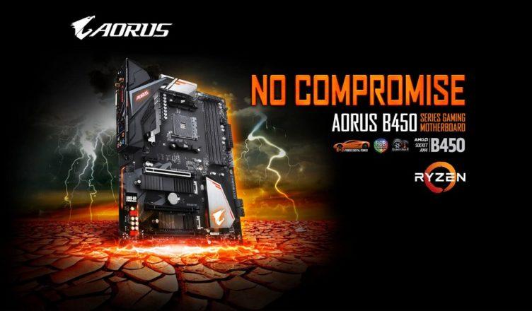 Gigabyte B450 motherboards