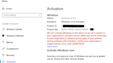 Fix Windows Activation Error - organization server