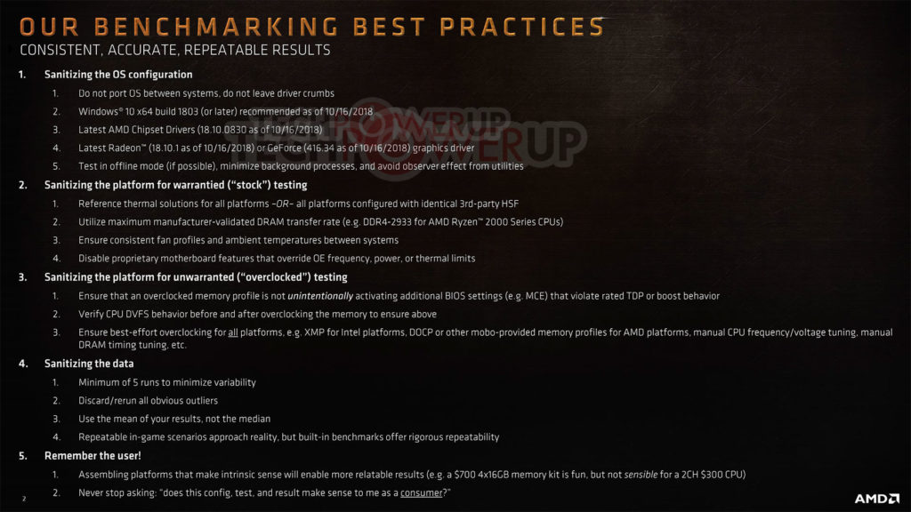 AMD's benchmarking best practices
