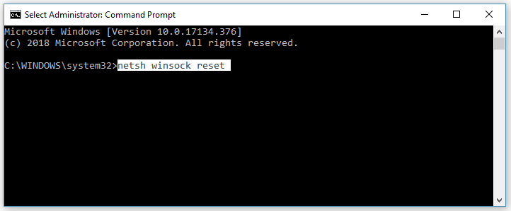 Reset Winsock - Fix Network Protocols missing