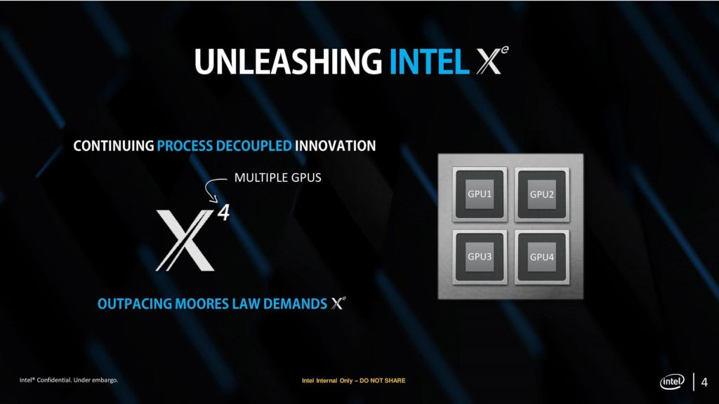 Intel Xe with multiple GPUs