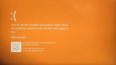 Fix Windows 10 Orange Screen of Death
