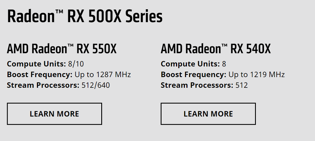 AMD Radeon RX 640 and 630 based on the RX 500X series (Rumor)