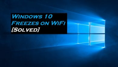 Windows 10 freezes when connected by WiFi (Solved)