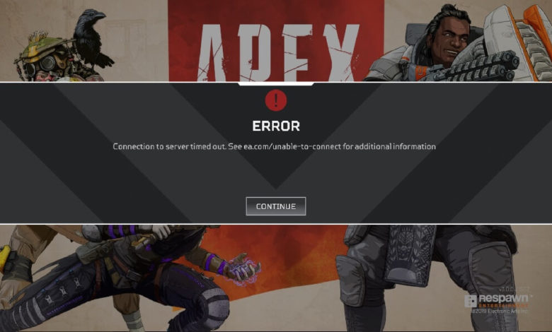 Fix: Apex Legends Connection to Server Timed Out