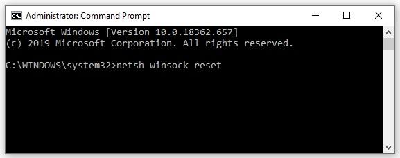 Reset Winsock data