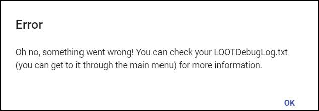 LOOT Not Detecting Skyrim and Skyrim SE error message