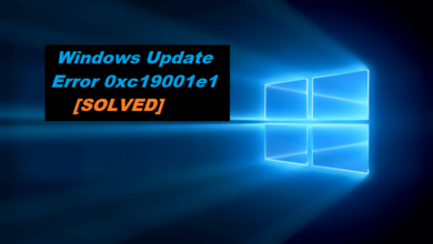 How to fix Windows Update Error 0xc19001e1
